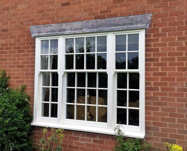 Ultimate Rose Sash Window - Slim Mullion Triple