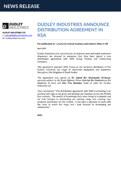News: DI announce Distribution agreement in Saudi Arabia