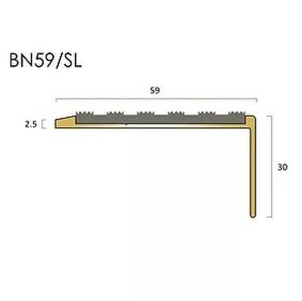 BN59SL brass stair nosings