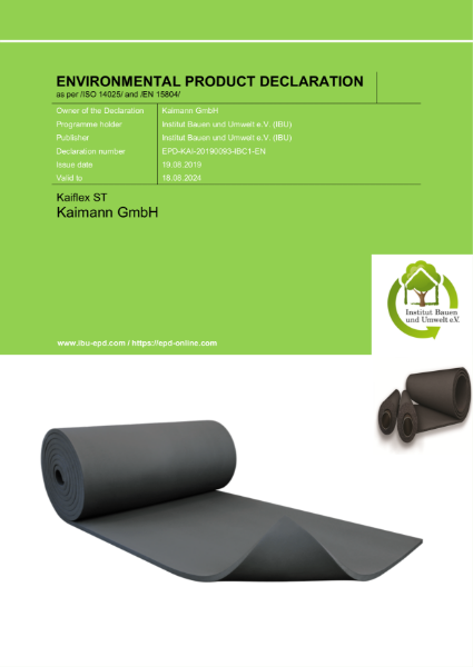 EPD for Kaiflex ST from Kaimann