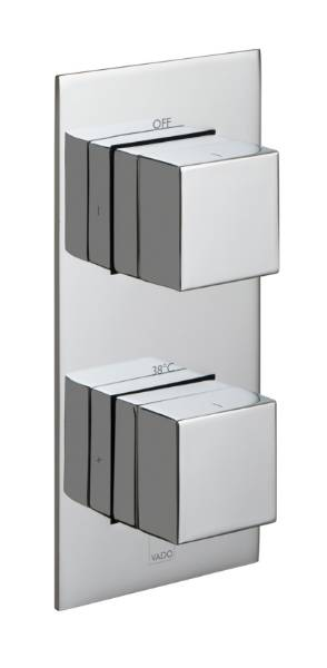 Tablet Notion 2 Outlet, 2 Handle Vertical Concealed Thermostatic Valve
