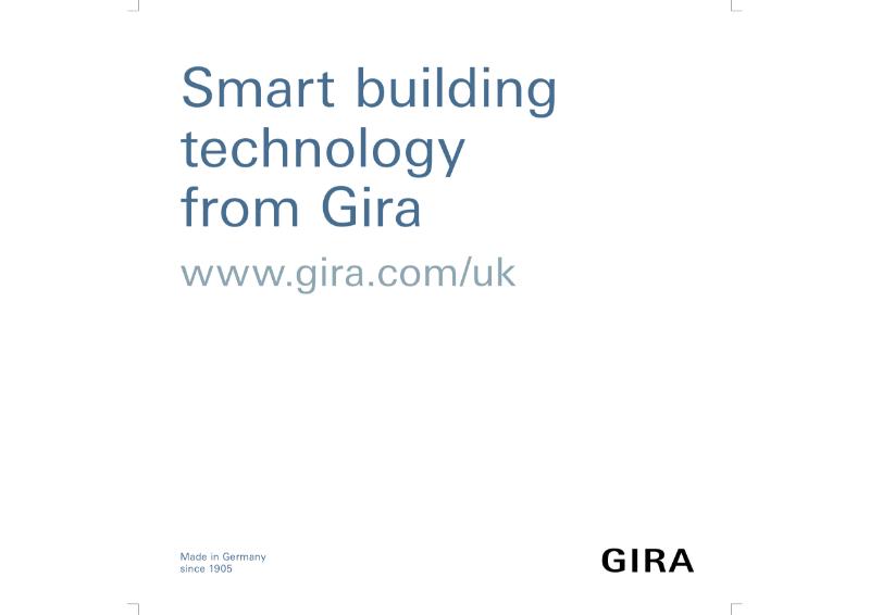 Gira Smart Building Overview