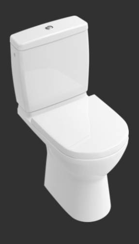 O.novo Washdown WC for Close-coupled WC-suite, Horizontal Outlet 5689R0