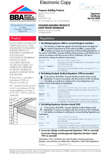 Damp-proof membrane