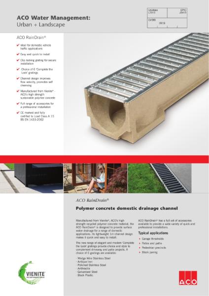 ACO RainDrain brochure
