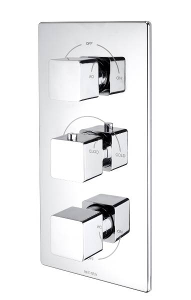 Kiri Concealed Mixer Valve (3 Outlets) - Brass Plate