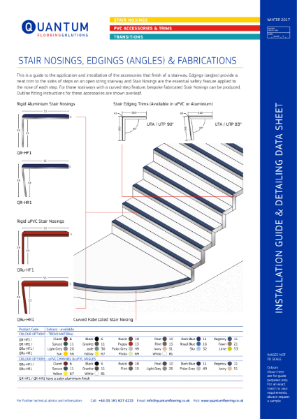 Installation Guide & Detailing Data Sheet for Stair Nosing (Stair Edging)