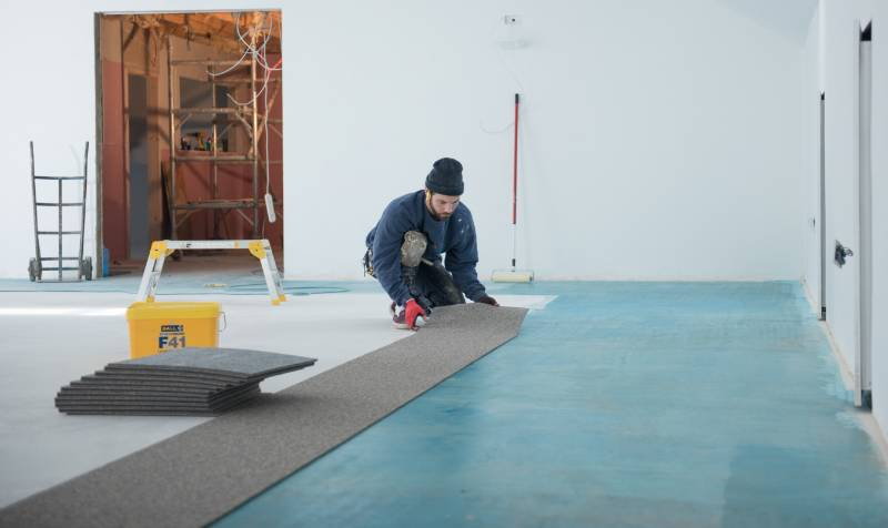 CB Hounslow United FC - F. Ball Help Install Premier League Flooring in Charity Football Club Build