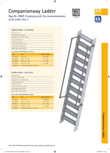 Companionway Ladder TYPE BL-COMP