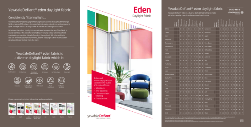 YewdaleDefiant® Eden Daylight fabric for blind systems