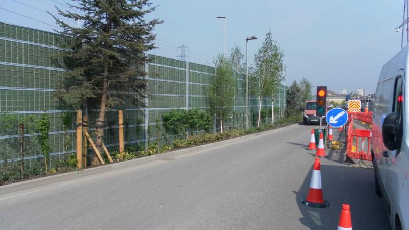 Reducing roadside noise at Fresh Wharf