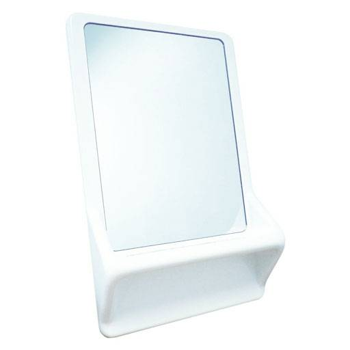 High Security Mirror With Integrated Shelf