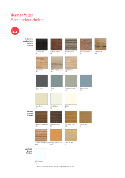 Memo - Colour Choices