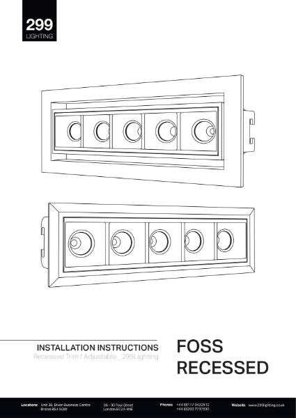 Foss Recessed Fixed Modular Linear Lighting Installation Instruction