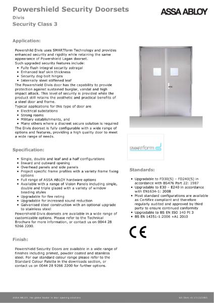 Class 3 - Powershield Security Doorsets