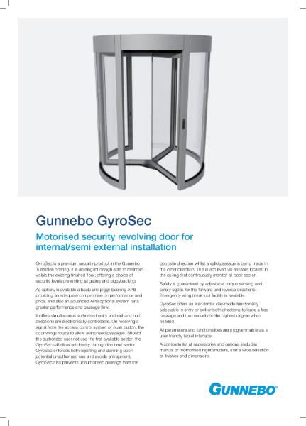 GyroSec Security Revolving Door