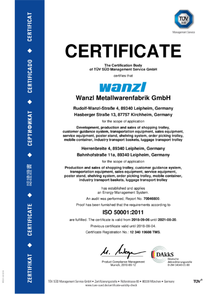 ISO 50001 - Energy Management Certificate