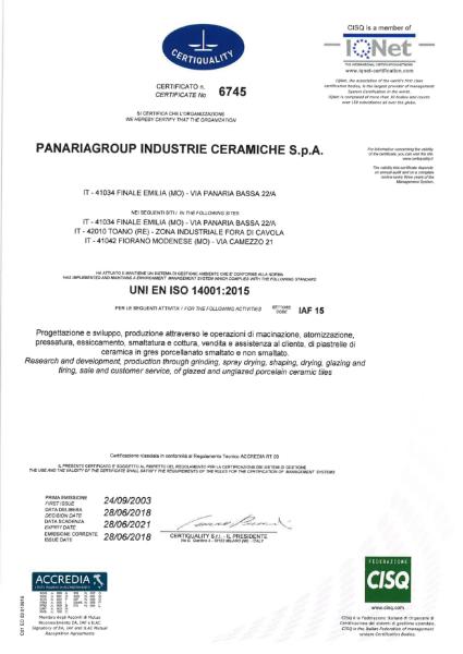 UNI EN ISO 14001: 2015