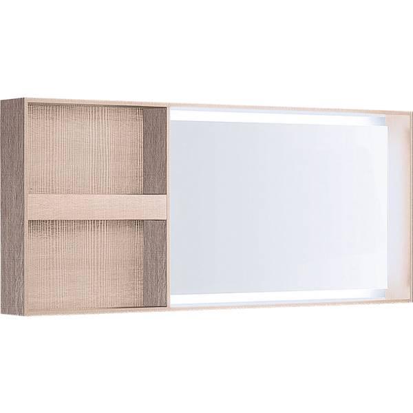 Citterio illuminated mirror, lateral storage shelf