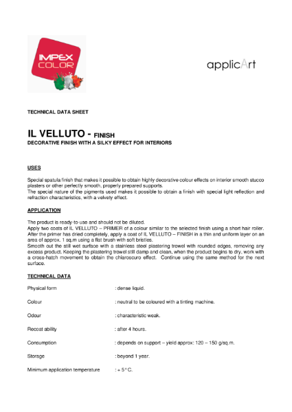 Polished Plaster - IL Velluto