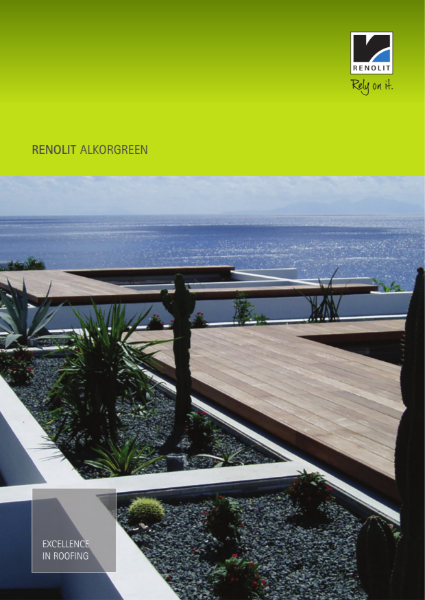 RENOLIT ALKORPLAN Green  waterproofing membrane  single ply Brochure