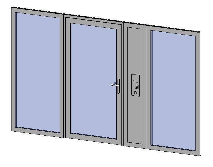 Premier Vision - Side Panel + Single Door + Side Panel + Side Panel