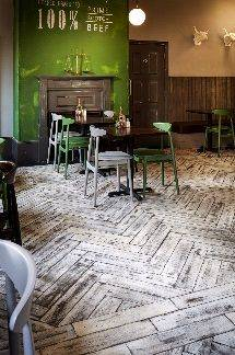 RECLAIMED and SOLID OAK Block and Chevron Wood Flooring