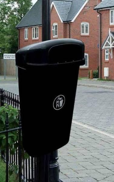 Regent 50L Hooded Post Mounted Litter Bin