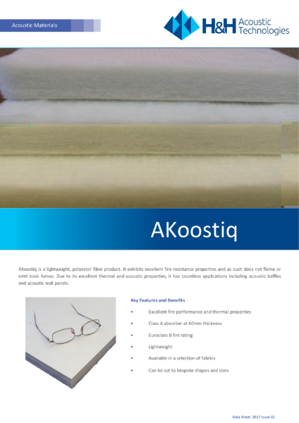 Acoustic impact resistent Akoostiq panels