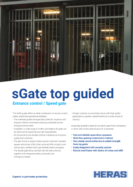 Bi-folding Speed Gate (Top guided)