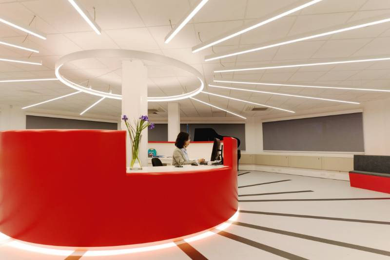 Creative Lighting for Reception Areas. The National Mathematics and Science College, Warwick.
