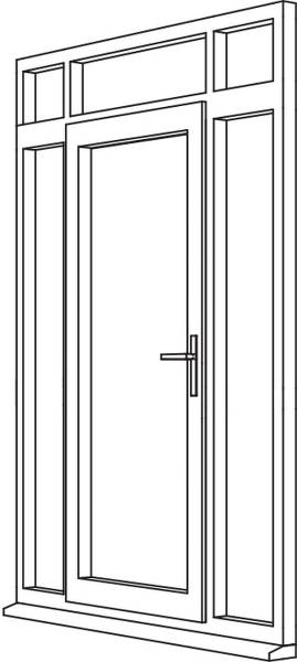 Heritage 2800 Flush Residential Door - R7 Open Out