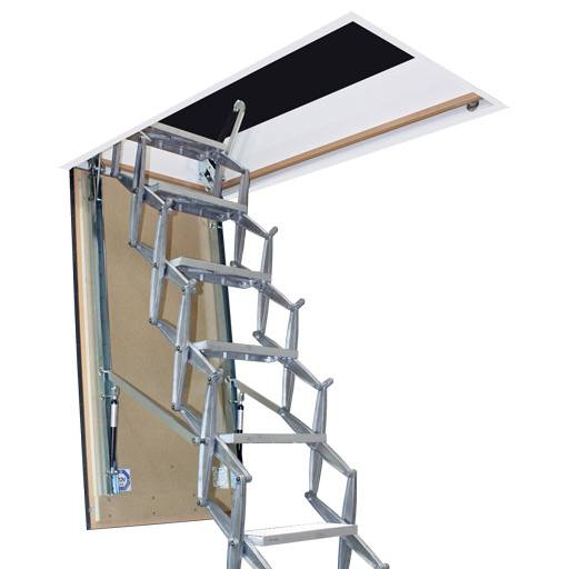 Supreme F30 Heavy Duty Retractable Ladder with Fire Rated Wooden Hatch