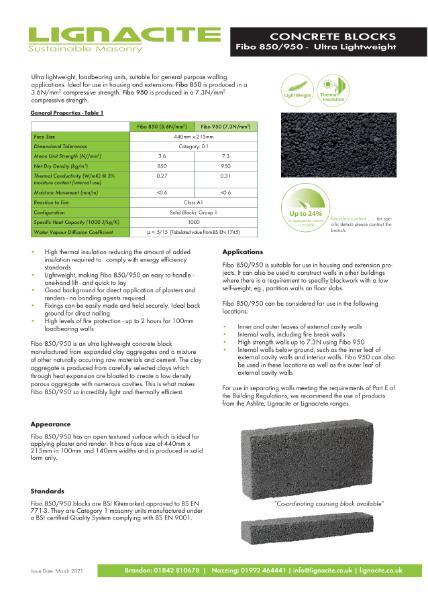 Fibo850 Concrete Block