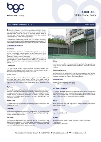 Eurofold Folding Shutter Doors