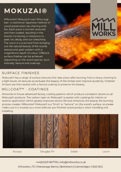 Millworks Mokuzai® Surface Textures