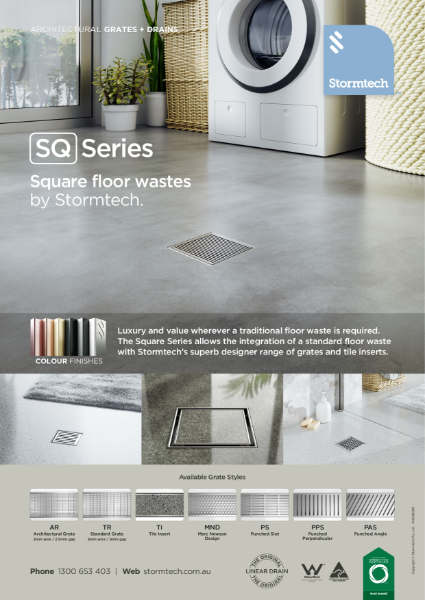 SQ Series - square floor wastes