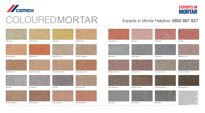 Mortar Colour Guide