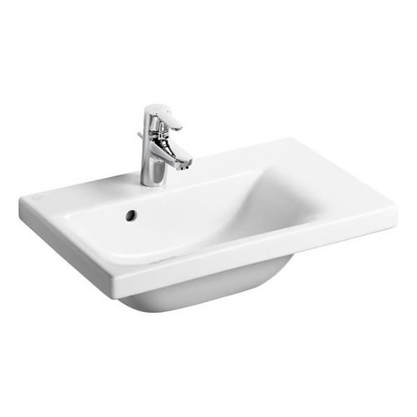 Concept Space 60 cm Washbasin, left hand platform