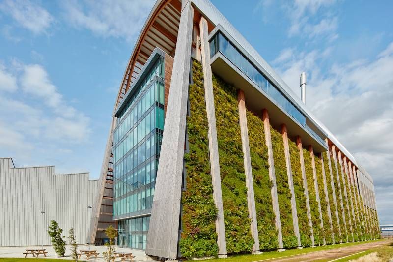 Veolia Recycling & Recovery Facility Living Wall, Leeds