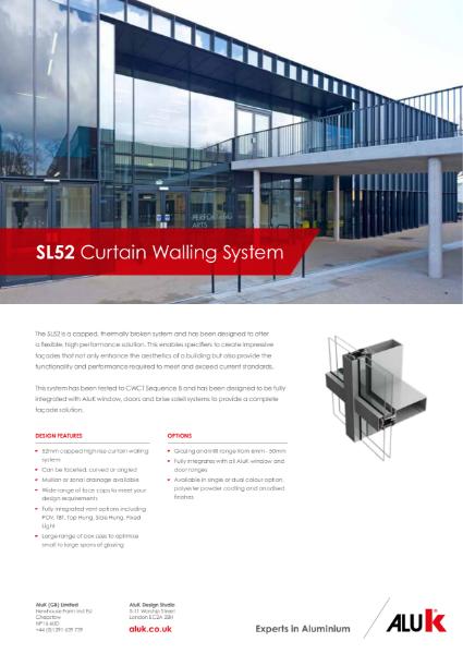 AluK SL52 Curtain Walling Datasheet