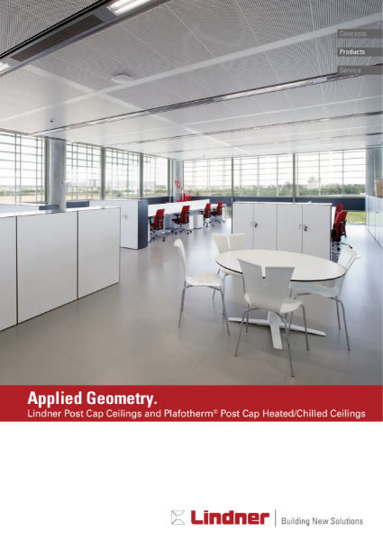 Lindner Post Cap Ceilings and Plafotherm® Post Cap Heated and Chilled Ceilings.pdf