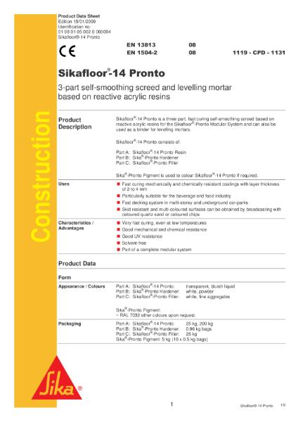 Sikafloor 14 Pronto