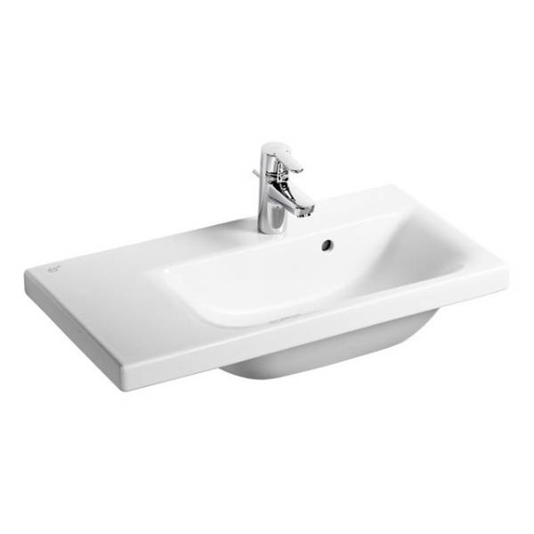 Concept Space 70 cm Washbasin, right hand platform