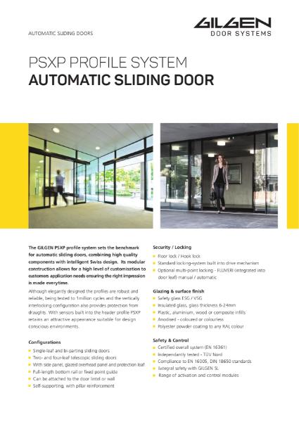 Gilgen PSXP Standard Automatic Door System