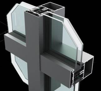 SF62 Fully Capped Curtain Wall System