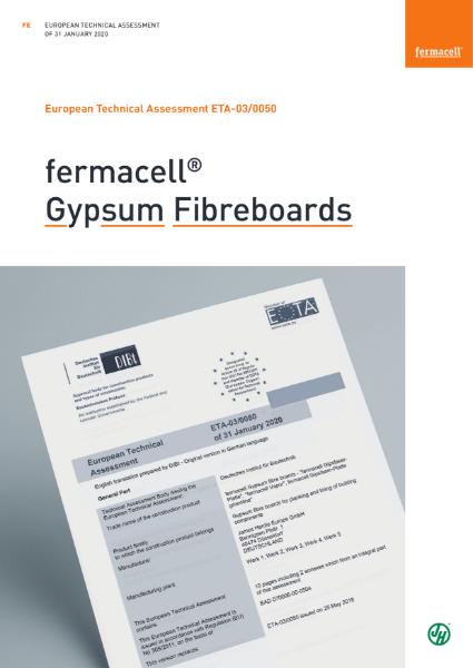 fermacell Gypsum Fibreboard ETA 03/0050 Certificate