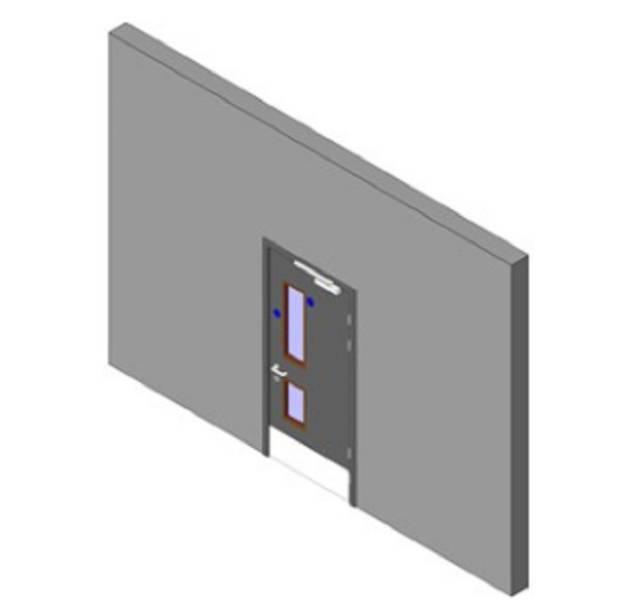 Health Range: Single Lift/ Lobby Doorset with 2 Vision Panels