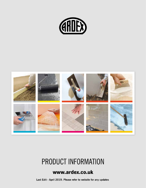 ARDEX Datasheets Booklet
