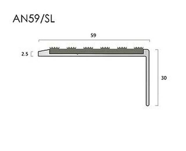 AN59SL aluminium stair nosings